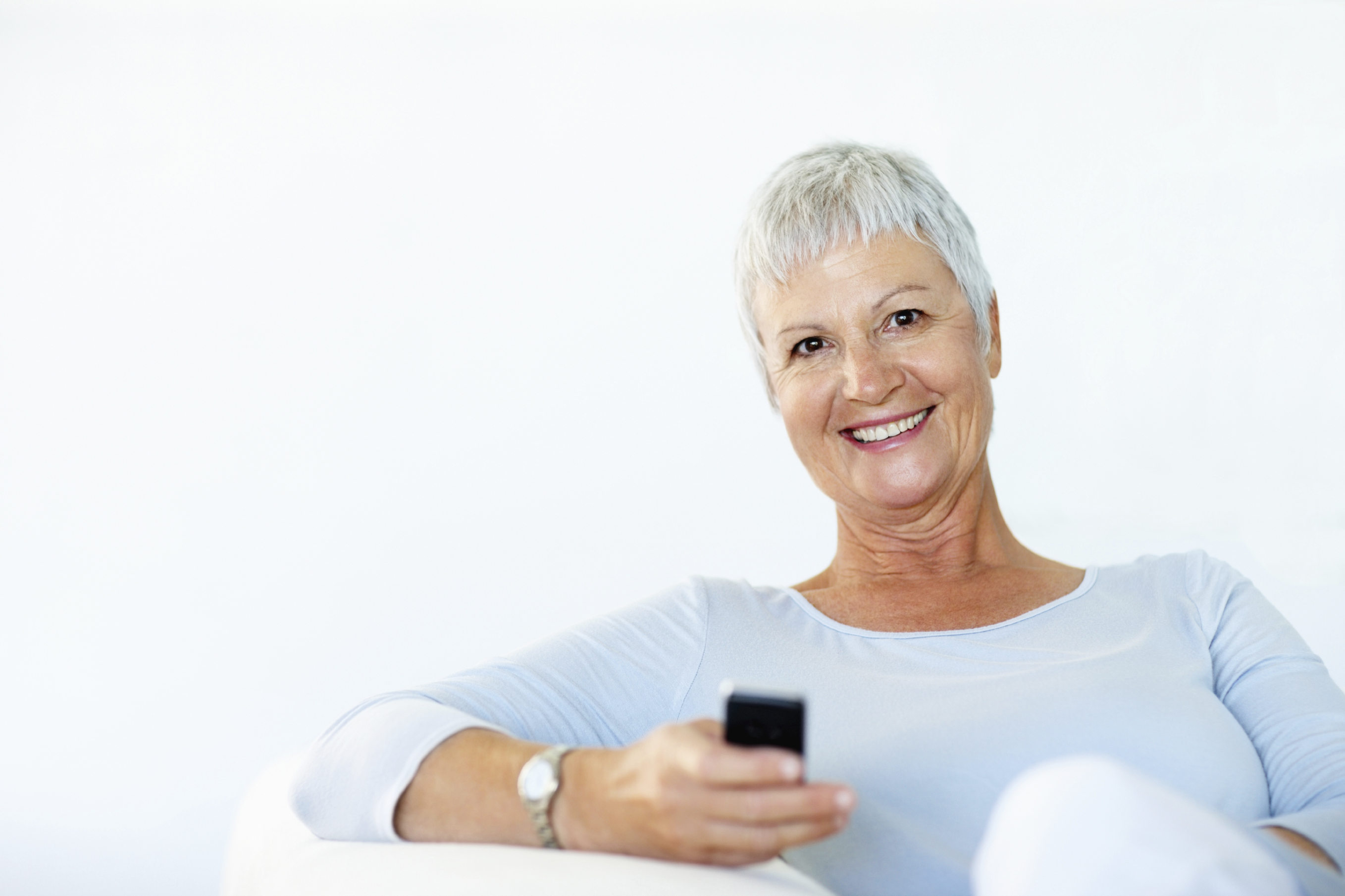 Senior with Smart phone - iStock_000015728400 (2.9MB)